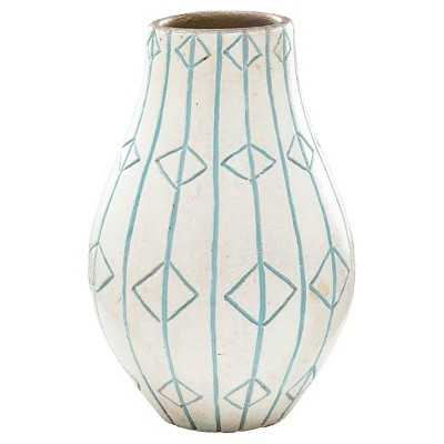 Medium White Ceramic Vase - Target