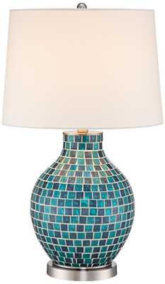 Glass Mosaic Jar Table Lamp - Lamps Plus
