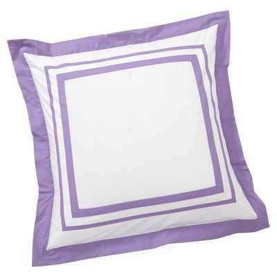 Suite Organic Sham - Euro, Purple - Pottery Barn Teen