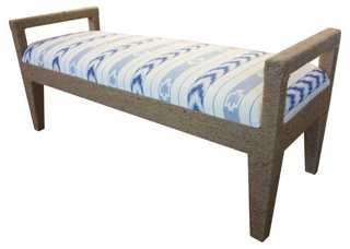 """Solana 54"""" Rope Bench, Blue Solstice - One Kings Lane"""