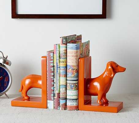 Orange Dog Bookends - Pottery Barn Kids