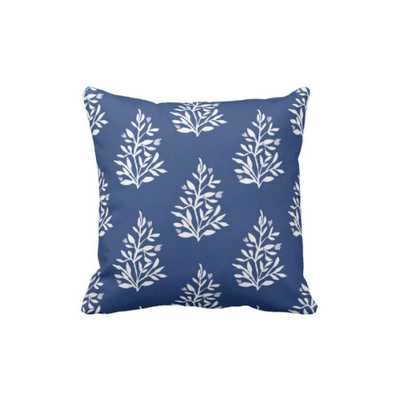 "Pillow - Navy Mimi-20""x20""-No Insert - Domino"