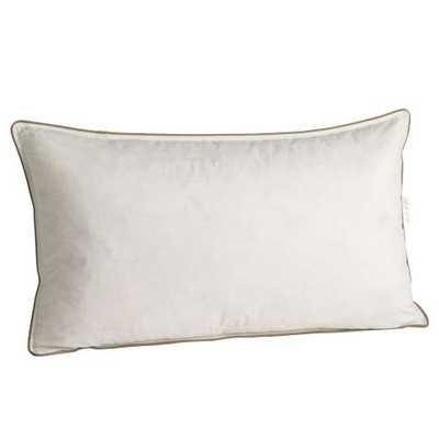 Luster Velvet Pillow Insert, feather - West Elm