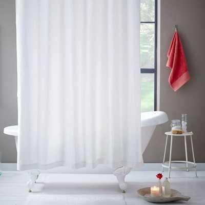 Brighton Matelasse Shower Curtain - West Elm
