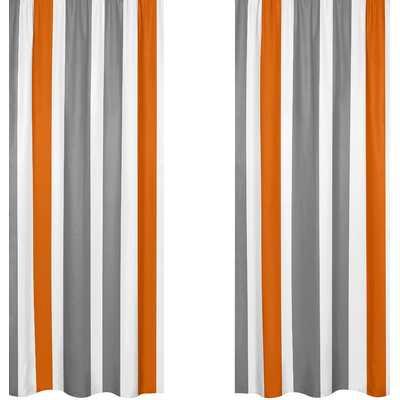 "Stripe Curtain Panels - 84"" - Wayfair"
