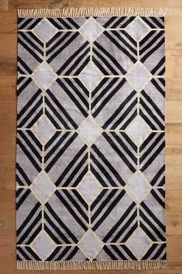 Empire Tile Rug - Gray, 5x8 - Anthropologie