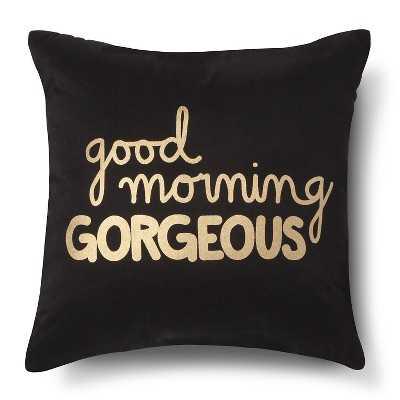 Xhilaration® Good Morning Gorgeous! Decorative Pillow - Navy/Gold (Square) - Target