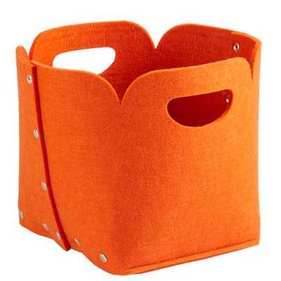 Orange Aw Snap Cube Bin - Land of Nod