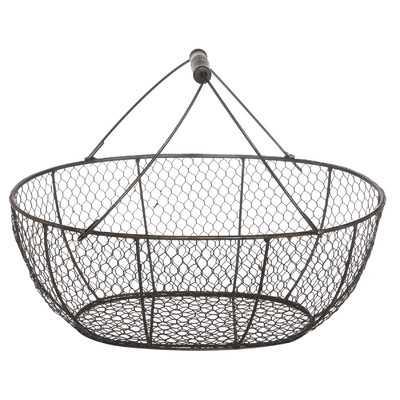 French Chic Garden Wire Basket - Wayfair