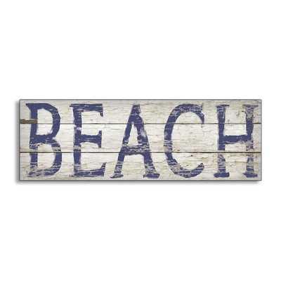 Distressed Beach Oversized Wall Plaque - Wayfair