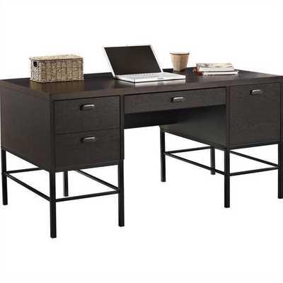 Double Pedestal Home Office Desk - cymax.com