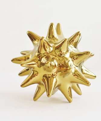 Gold Ceramic Urchin - High Street Market