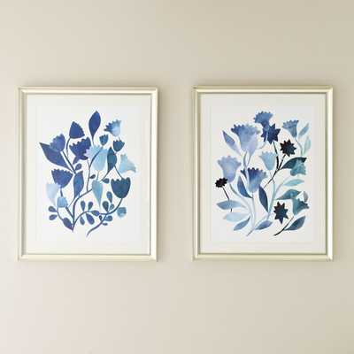 """Watercolor Flowers Framed Print Collection 30"""" x 24"""" - Birch Lane"""