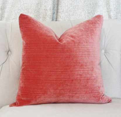 "Coral Pillow Cover - 18"" x 18"" - Etsy"