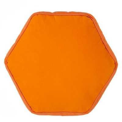Orange Hexagon Throw Pillow - Land of Nod