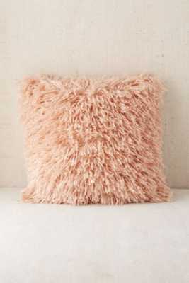 "Assembly Home Shaggy Sweater Pillow - Pink - 16""x16"" - Urban Outfitters"