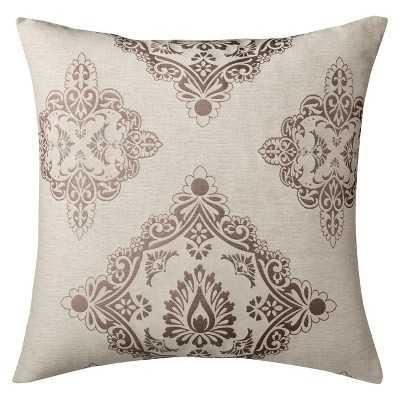 "Oversized Barcelona Toss Pillow - Cream (24x24"") - Polyester Fill - Target"