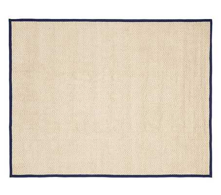 Chenille Jute Solid Border Rug - Navy - 9' x 12' - Pottery Barn Kids