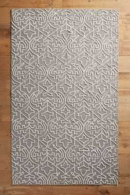 Open Scroll Rug - Grey - 9' x 12' - Anthropologie
