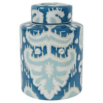 "A&B Home Decorative Vase - Blue/Multi-Colored (7.6"") - Target"