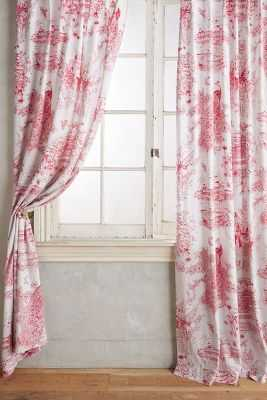 "Willowherb Curtain - Fuschia, 84""L - Anthropologie"