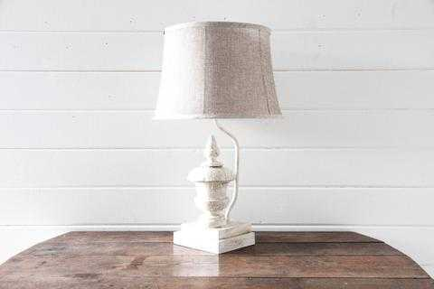 WHITE DISTRESSED FINIAL LAMP - shop.magnoliamarket.com