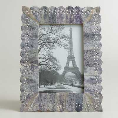 Gray Pierced Bone Valeria Frame - World Market/Cost Plus