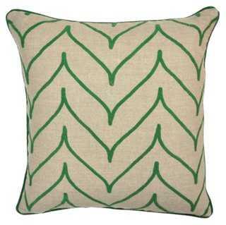 Mai Linen Pillow - One Kings Lane