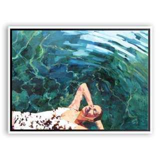 """T.S. Harris, Floating Girl-40"""" x 30""""-Framed (White) - One Kings Lane"""