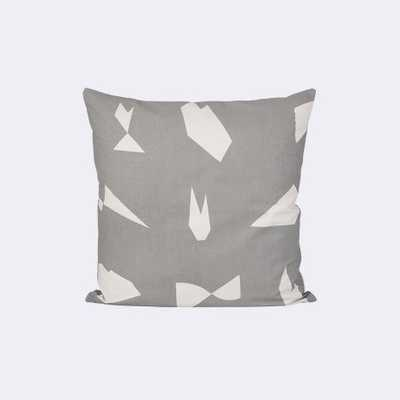CUT CUSHION - GREY - 50 x 50 cm - Feather and down insert - FermLiving