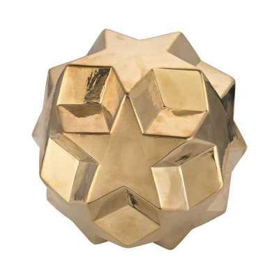Ceramic Gold Table Top Star Ball - Rosen Studio