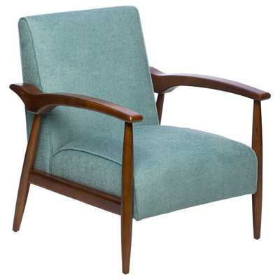 Gracie Aqua Retro Arm Chair - Overstock