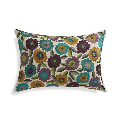 """Russo 18""""x12"""" Pillow - Multi and Purple -Insert included - Crate and Barrel"""