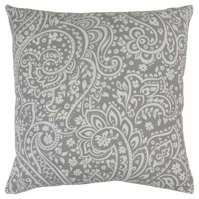 Surya Stawley Paisley Throw Pillow 18''Sq./insert included - Target