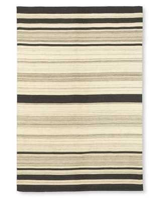 Saddle Blanket Variegated Striped Dhurrie Rug - Williams Sonoma