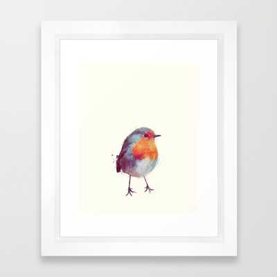 "Winter Robin - 10"" X 12"" - Framed - Society6"