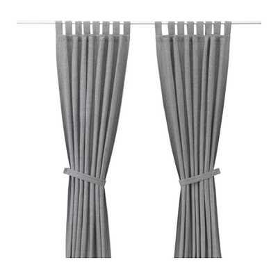 """LENDA Curtains with tie-backs- 55x118"""" - Ikea"""