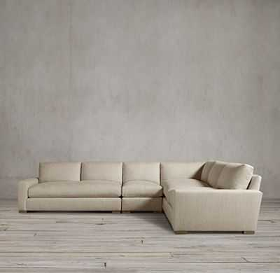PRECONFIGURED MAXWELL UPHOLSTERED L-SECTIONAL- Luxe Seat Depth - RH