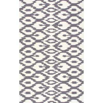 NuLOOM Handmade Modern Ikat Trellis Grey Rug (6' x 9') - Overstock