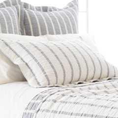 Pine Cone Hill Wainscott Indigo Reversible Matelasse Pillow Sham euro - Layla Grace