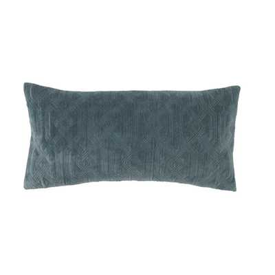 SUTTON SLATE PILLOW - Dwell Studio