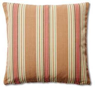 Stripe 20x20 Cotton Pillow - One Kings Lane