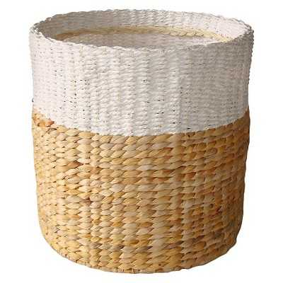 "White & Natural Woven Basket - Small - Thresholdâ""¢ - Target"