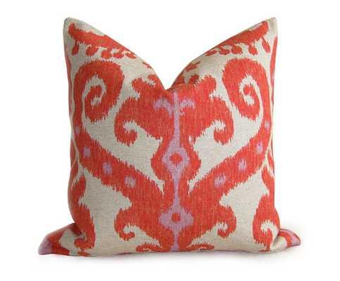 Pair of 2 Ikat Designer Pillow Covers - 18'sq.- no insert - Etsy