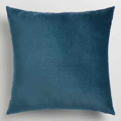 "Midnight Blue Velvet Throw Pillow, 24""Sq, with insert - Wayfair"