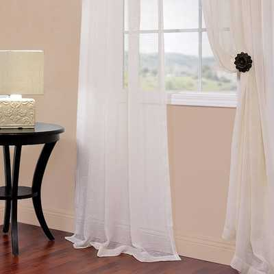 """Solid Voile Sheer Curtain Panel - 96""""L x 50""""W - Wayfair"""