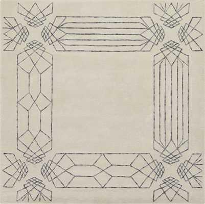 "Crystaline rug 6""x6"" - CB2"