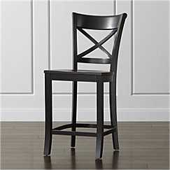 Vintner Black Counter Stool. - Crate and Barrel