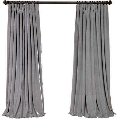 "Signature Double Wide Velvet Rod Pocket Single Curtain Panel - 96""L x 100""W - Wayfair"