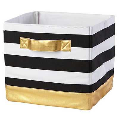Gold Mod Cube Bin - Land of Nod